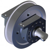Driven wheels with corner block housings