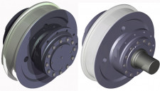 Driven & idle wheels with flanged housings